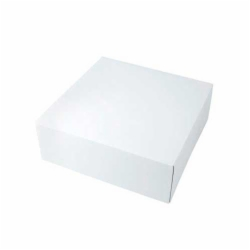 10.5 x 10.5 x 2.5 WHITE GLOSS TWO-PIECE GIFT BOXES