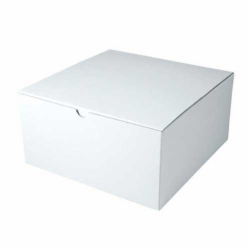 10 x 10 x 6 WHITE GLOSS TUCK-TOP GIFT BOXES