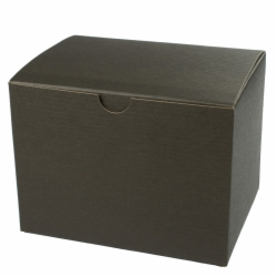 6 x 4.5 x 4.5 BLACK PINSTRIPE TUCK-TOP GIFT BOXES