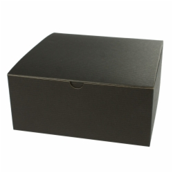8 x 8 x 3.5 BLACK PINSTRIPE TUCK-TOP GIFT BOXES