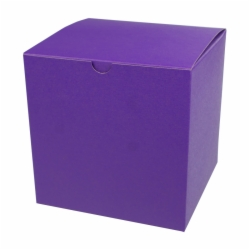 6 x 6 x 6 PURPLE TINTED TUCK-TOP GIFT BOXES