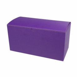 9 x 4.5 x 4.5 PURPLE TINTED TUCK-TOP GIFT BOXES