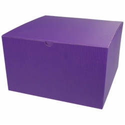 10 x 10 x 6 PURPLE TINTED TUCK-TOP GIFT BOXES