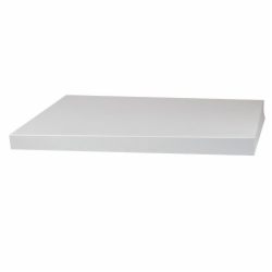 19 x 12 WHITE GLOSS HI-WALL BOX LIDS *BASES SOLD SEPARATELY*