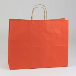 16 x 6 x 13 TERRA COTTA MATTE SHADOWSTRIPE PAPER BAGS ***LIMITED AVAILABILITY***