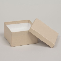 (#33D) 3-1/2 x 3-1/2 x 1-1/2 OATMEAL GROOVE JEWELRY BOXES