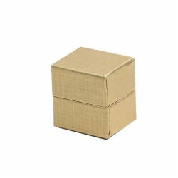 (#102) 1-1/2 x 1-1/4 x 1-1/2 GOLD LINEN JEWELRY BOXES