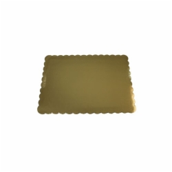 1/4 SHEET GOLD DOUBLE WALLED CAKE PADS