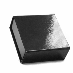 3-5/8 x 3-1/2 x 1-1/2 BLACK GLOSS MAGNETIC BOX