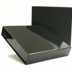 9-1/2 x 9-1/4 x 1-3/4 BLACK GLOSS MAGNETIC BOX