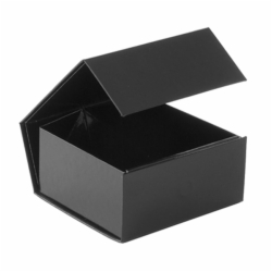 4-1/8 x 4 x 2 BLACK GLOSS MAGNETIC GIFT BOX