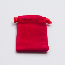 3 x 4 RED VELVET DRAWSTRING POUCHES