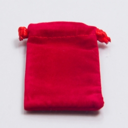 4 x 5 RED VELVET DRAWSTRING POUCHES