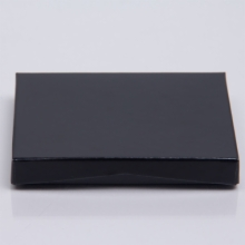 4-5/8 x 3-3/8 x 5/8 BLACK ICE GIFT CARD BOX WITH PLASTIC INSERT