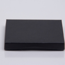 4-5/8 x 3-3/8 x 5/8 BLACK RIB GIFT CARD BOX WITH PLASTIC INSERT