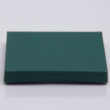 4-5/8 x 3-3/8 x 5/8 FOREST MATTE GIFT CARD BOX WITH PLASTIC INSERT