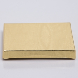 4-5/8 x 3-3/8 x 5/8 METALLIC GOLD GIFT CARD BOX WITH PLATFORM INSERT
