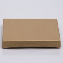 4-5/8 x 3-3/8 x 5/8 GOLD RIB GIFT CARD BOX WITH PLASTIC INSERT