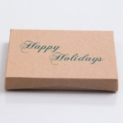 4-5/8 x 3-3/8 x 5/8 KRAFTY HOLIDAY GIFT CARD BOX WITH POP-UP INSERT