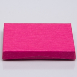 4-5/8 x 3-3/8 x 5/8 PINK RIB GIFT CARD BOX WITH POP-UP INSERT
