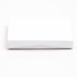 4-5/8 x 3-3/8 x 5/8 WHITE SOFT TOUCH GIFT CARD BOX WITH SILVER POP-UP INSERT