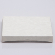 4-5/8 x 3-3/8 x 5/8 IVORY RIB GIFT CARD BOX WITH PLASTIC INSERT