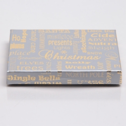 4-5/8 x 3-3/8 x 5/8 SILVER CHRISTMAS MEMORIES GIFT CARD BOX WITH POP-UP INSERT