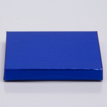 4-5/8 x 3-3/8 x 5/8 METALLIC BLUE GIFT CARD BOX WITH PLASTIC INSERT