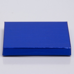 4-5/8 x 3-3/8 x 5/8 METALLIC BLUE GIFT CARD BOX WITH PLATFORM INSERT