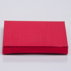 4-5/8 x 3-3/8 x 5/8 METALLIC RED GIFT CARD BOX WITH PLATFORM INSERT