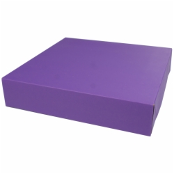 12 x 12 x 2.5 PURPLE TINTED TWO-PIECE GIFT BOXES