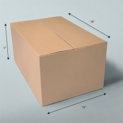 18 x 12 x 5 NATURAL KRAFT CORRUGATED SHIPPING BOXES