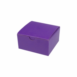 4 x 4 x 2 PURPLE TINTED TUCK-TOP GIFT BOXES