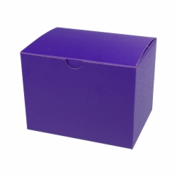 6 x 4.5 x 4.5 PURPLE TINTED TUCK-TOP GIFT BOXES