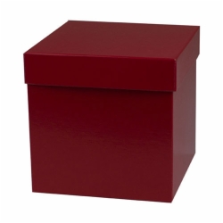 6 x 6 x 6 RED GLOSS HI-WALL GIFT BOX BASES