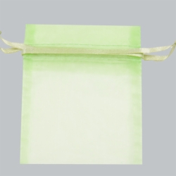 12x14 MINT SHEER ORGANZA POUCHES