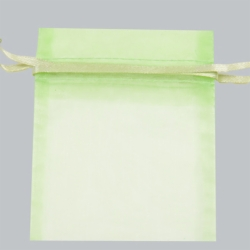 22x25 MINT SHEER ORGANZA POUCHES