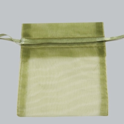 12X14 OLIVE GREEN SHEER ORGANZA POUCHES