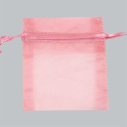 12X14 PINK SHEER ORGANZA POUCHES