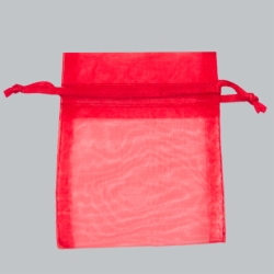 10X12 RED SHEER ORGANZA POUCHES