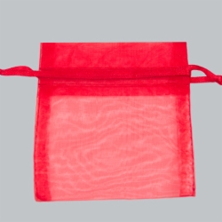 12X14 RED ORGANZA POUCHES