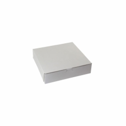 10 x 10 x 2.5 WHITE ONE-PIECE BAKERY BOXES