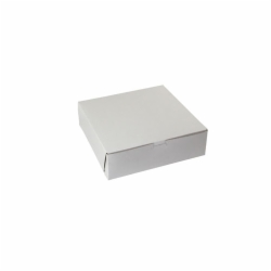 10 x 10 x 3 WHITE ONE-PIECE BAKERY BOXES