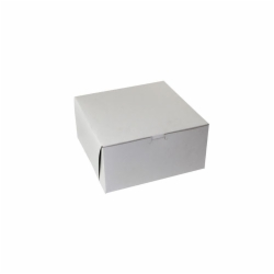 10 x 10 x 5 WHITE ONE-PIECE BAKERY BOXES