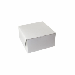 10 x 10 x 5.5 WHITE ONE-PIECE BAKERY BOXES