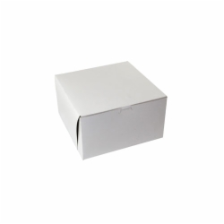 10 x 10 x 6 WHITE ONE-PIECE BAKERY BOXES