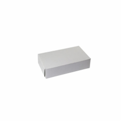 10 x 6 x 2.5 WHITE ONE-PIECE BAKERY BOXES
