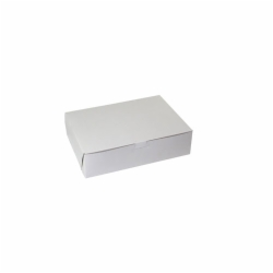 10 x 6 x 3.5 WHITE ONE-PIECE BAKERY BOXES