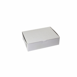 11 x 8 x 3 WHITE ONE-PIECE BAKERY BOXES