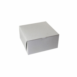 12 x 12 x 5 WHITE ONE-PIECE BAKERY BOXES